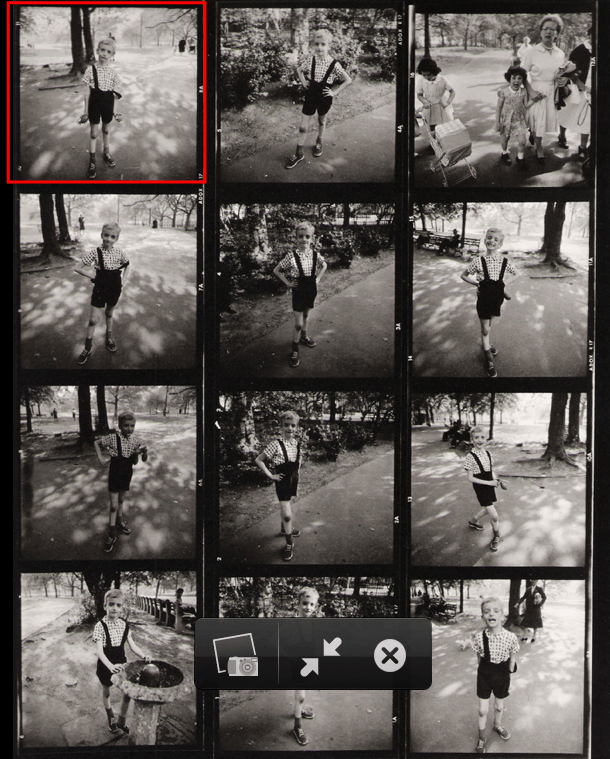 Street Photography-diane-arbus-kid-grenade-contact-sheet