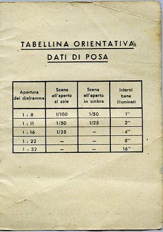Sistema Zonale - Istruzioni Ferrania